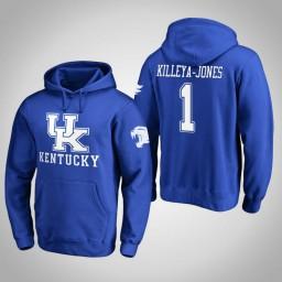 Kentucky Wildcats #1 Sacha Killeya-Jones Men's Royal Pullover Hoodie
