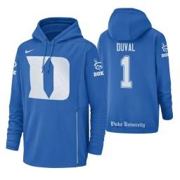 Duke Blue Devils #1 Trevon Duval Men's Royal College Basketball Hoodie