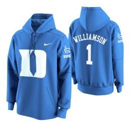 Duke Blue Devils #1 Zion Williamson Men's Royal College Basketball Hoodie