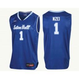 Youth Seton Hall Pirates #1 Michael Nzei Authentic College Basketball Jersey Royal