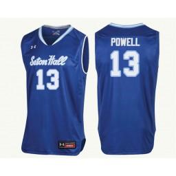 Seton Hall Pirates #13 Myles Powell Authentic College Basketball Jersey Royal
