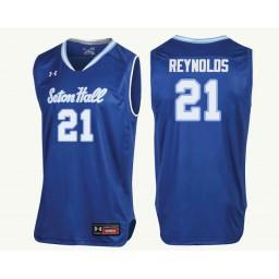 Youth Seton Hall Pirates #21 Shavar Reynolds Authentic College Basketball Jersey Royal