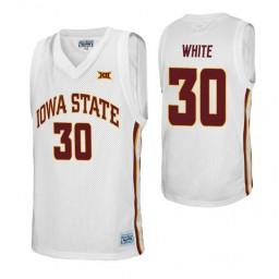 Iowa State Cyclones 30 Royce White  Alumni Authentic College Basketball Jersey White