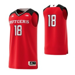Rutgers Scarlet Knights #18 Basketball Adidas Authentic College Basketball Jersey Scarlet