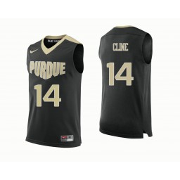 Purdue Boilermakers #14 Ryan Cline Authentic College Basketball Jersey Black