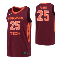 Women's Ryan Payne Authentic College Basketball Jersey Maroon Virginia Tech Hokies