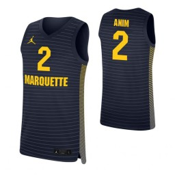 Marquette Golden Eagles #2 Sacar Anim Navy Authentic College Basketball Jersey