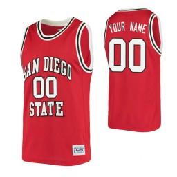 San Diego State Aztecs Custom College Basketball Alumni Jersey Red