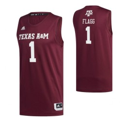 Women's Texas A&M Aggies #1 Savion Flagg Maroon Authentic College Basketball Jersey