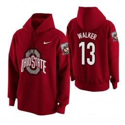 Ohio State Buckeyes #13 CJ Walker Men's Scarlet College Basketball Hoodie