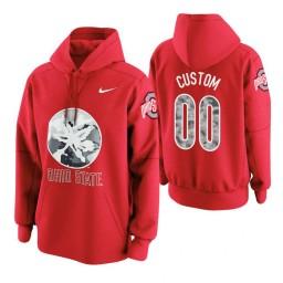 Ohio State Buckeyes #00 Custom Men's Scarlet College Basketball Hoodie