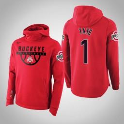 Ohio State Buckeyes #1 Jae'Sean Tate Men's Scarlet College Basketball Hoodie