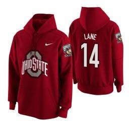 Ohio State Buckeyes #14 Joey Lane Men's Scarlet College Basketball Hoodie