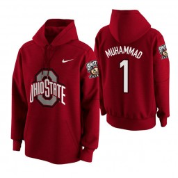 Ohio State Buckeyes #1 Luther Muhammad Men's Scarlet College Basketball Hoodie