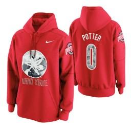 Ohio State Buckeyes #0 Micah Potter Men's Scarlet College Basketball Hoodie