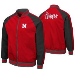 Nebraska Cornhuskers Scarlet Kent Full-Zip Bomber Jacket