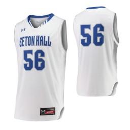 Seton Hall Pirates #56 Authentic College Basketball Jersey White