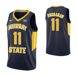 Women's Murray State Racers #11 Shaq Buchanan Authentic College Basketball Jersey Navy