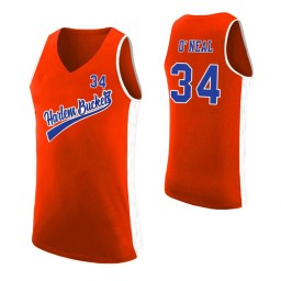 Women's Harlem Buckets Shaquille O'Neal Uncle Drew Authentic College Basketball Jersey Orange