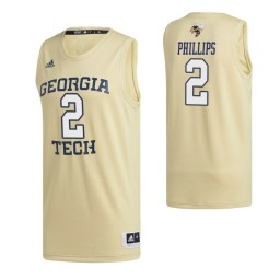 Georgia Tech Yellow Jackets 2 Shembari Phillips Swingman Jersey Gold
