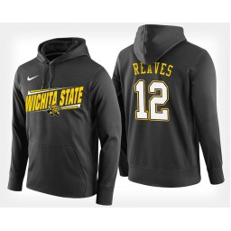 Wichita State Shockers #12 Austin Reaves Black Hoodie College Basketball