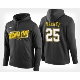 Wichita State Shockers #25 Brett Barney Black Hoodie College Basketball