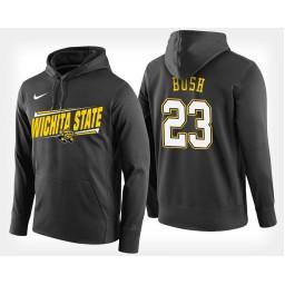 Wichita State Shockers #23 Brycen Bush Black Hoodie College Basketball