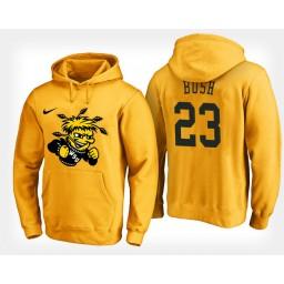 Wichita State Shockers #23 Brycen Bush Yellow Hoodie College Basketball