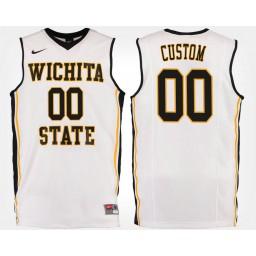 Wichita State Shockers #00 Custom White Road Jersey College Basketball