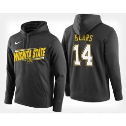 Wichita State Shockers #14 Jacob Herrs Black Hoodie College Basketball