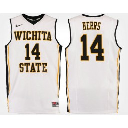 Women's Wichita State Shockers #14 Jacob Herrs White Road Authentic College Basketball Jersey