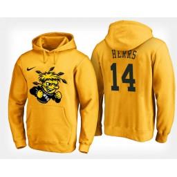 Wichita State Shockers #14 Jacob Herrs Yellow Hoodie College Basketball