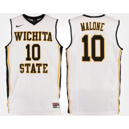 Women's Wichita State Shockers #10 Kaelen Malone White Road Authentic College Basketball Jersey
