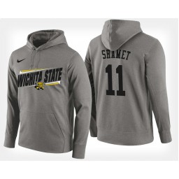 Wichita State Shockers #11 Landry Shamet Gray Hoodie College Basketball