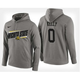 Wichita State Shockers #0 Rashard Kelly Gray Hoodie College Basketball