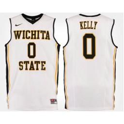 Women's Wichita State Shockers #0 Rashard Kelly White Road Authentic College Basketball Jersey