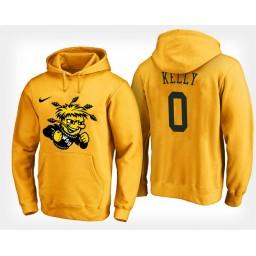 Wichita State Shockers #0 Rashard Kelly Yellow Hoodie College Basketball