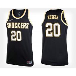 Women's Wichita State Shockers #20 Rauno Nurger Black Alternate Authentic College Basketball Jersey