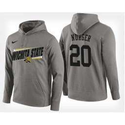 Wichita State Shockers #20 Rauno Nurger Gray Hoodie College Basketball