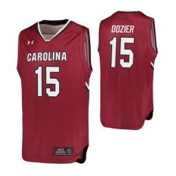 South Carolina Gamecocks #15 P.J. Dozier Authentic College Basketball Jersey Garnet