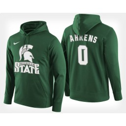 Michigan State Spartans #0 Kyle Ahrens Green Hoodie College Basketball