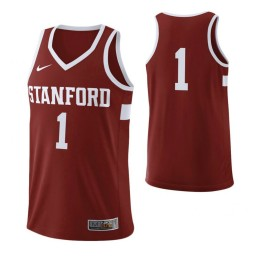 Women's Stanford Cardinal #1 Authentic College Basketball Jersey Cardinal