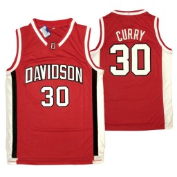 Davidson Wildcats #30 Stephen Curry Authentic College Basketball Jersey Red