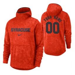 Syracuse Orange Custom Orange Basketball Spotlight Pullover Hoodie