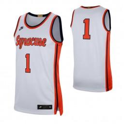 Syracuse Orange #1 Retro Limited Authentic College Basketball Jersey White