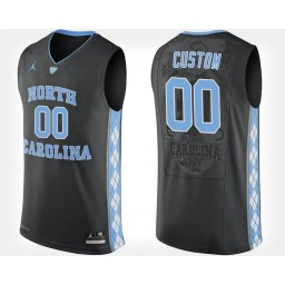 North Carolina Tar Heels #00 Custom Black Alternate Jersey College Basketball
