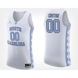 North Carolina Tar Heels #00 Custom White Road Jersey College Basketball