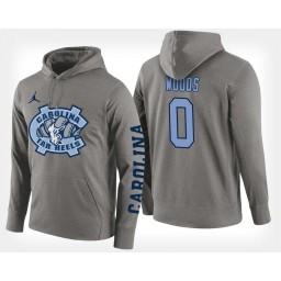 North Carolina Tar Heels #0 Seventh Woods Gray Hoodie College Basketball