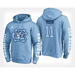 North Carolina Tar Heels #11 Shea Rush Light Blue Hoodie College Basketball