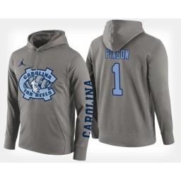 North Carolina Tar Heels #1 Theo Pinson Gray Hoodie College Basketball